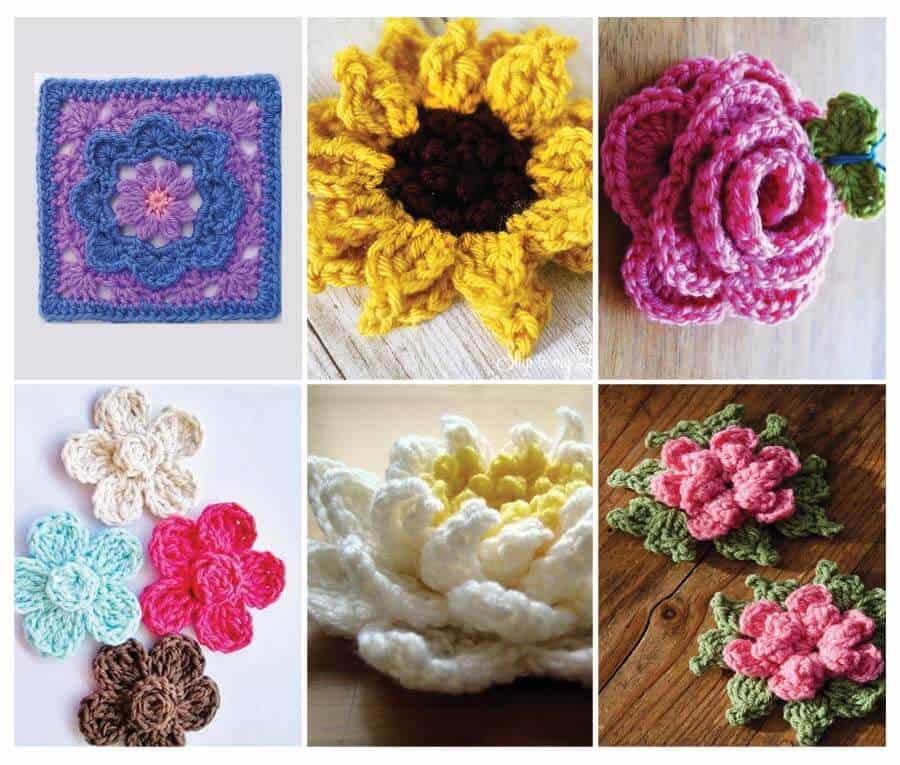 Crochet Flower Pattern Collection from Daisy Cottage Designs