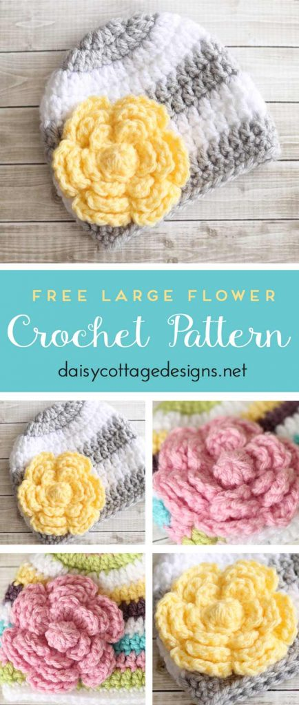 Flower Crochet Pattern Free Daisy Cottage Designs