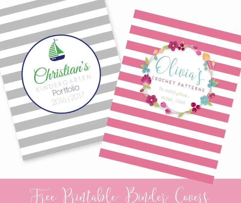 Free Printable Binder Covers: Set 1