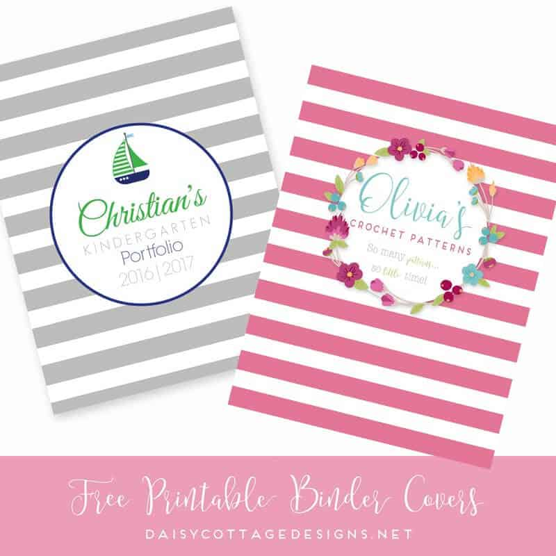 Free Printable Binder Covers: Set 1