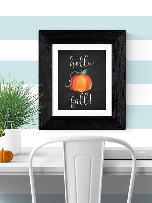 Free Fall Printable: Hello Fall