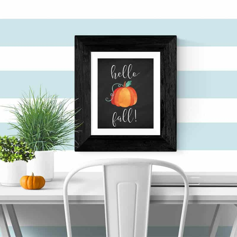 Free Fall Printable: Hello Fall