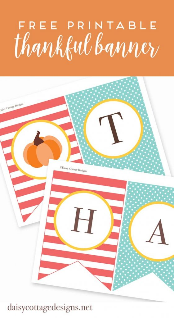 This bright and fun Thanksgiving Banner is something the whole family will enjoy! This free printable from Daisy Cottage Designs is a great way to decorate for Thanksgiving.