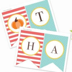 Printable Thanksgiving Banner