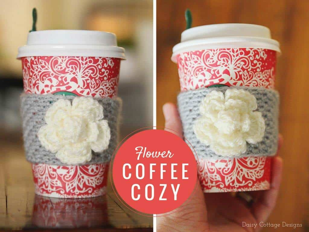 Coffee Cozy Crochet Pattern Daisy Cottage Designs
