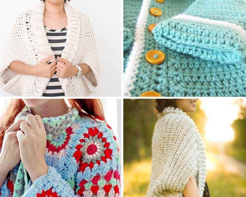 12 Free Crochet Sweater Patterns - Daisy Cottage Designs