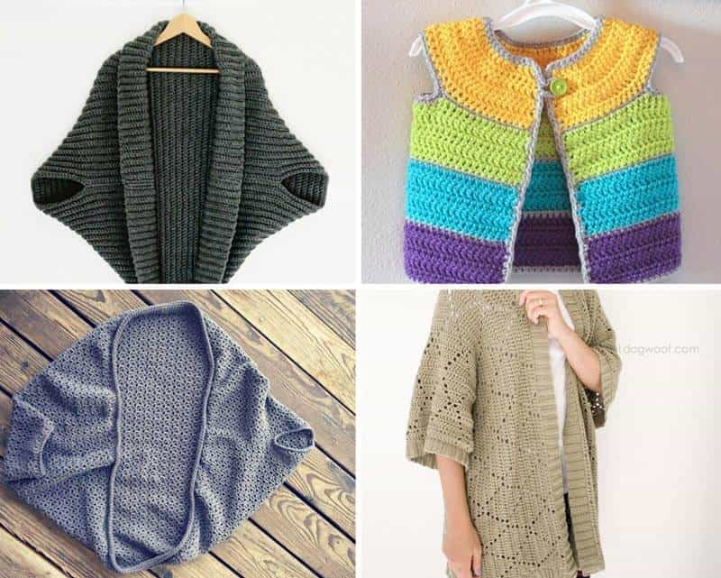 12 Free Crochet Sweater Patterns Daisy Cottage Designs