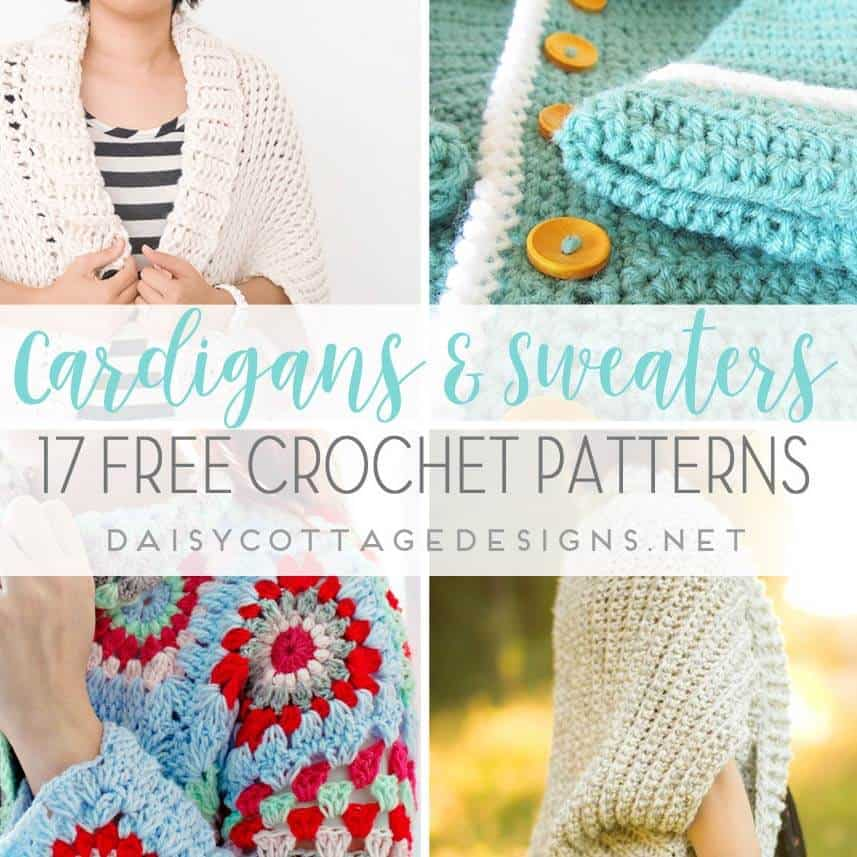 12 Free Crochet Sweater Patterns - Daisy Cottage Designs