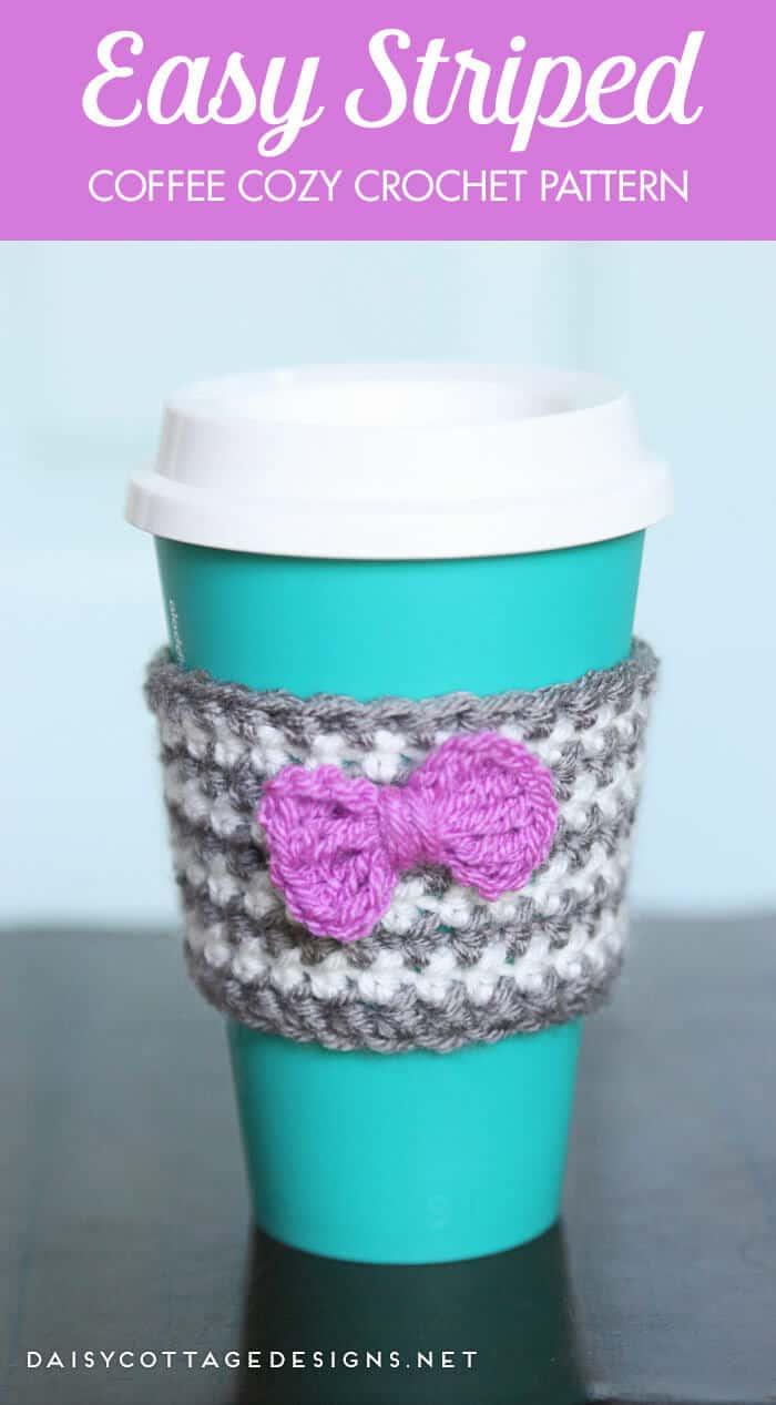 Crochet Coffee Cozy Pattern - Daisy Cottage Designs