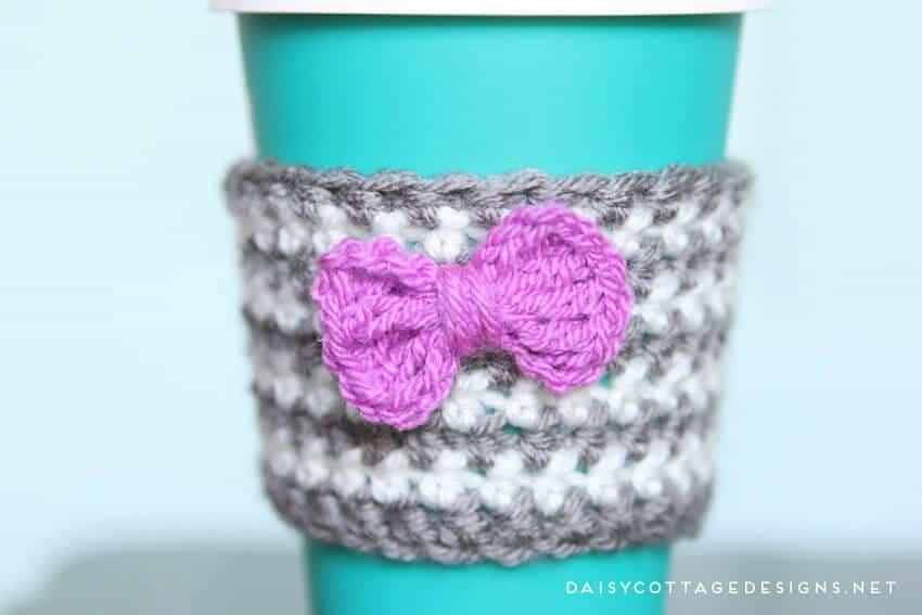 Crochet Coffee Cozy Pattern Daisy Cottage Designs