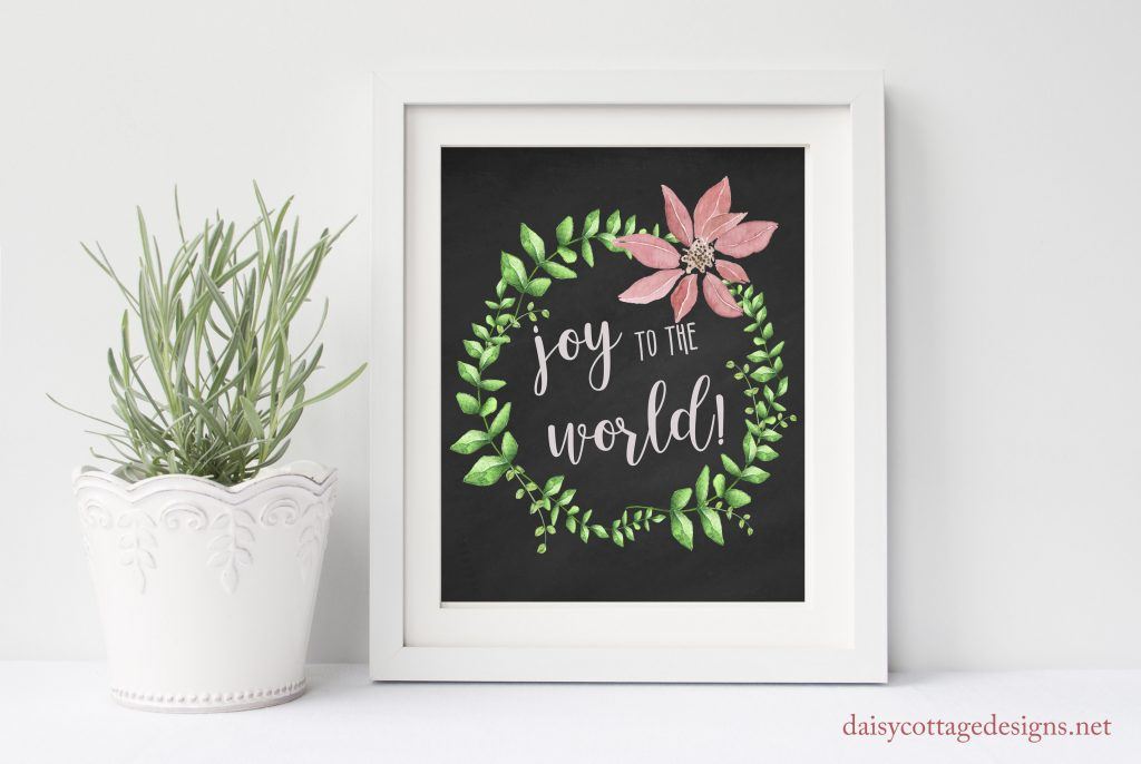 Joy to the World Printable from Daisy Cottage Designs