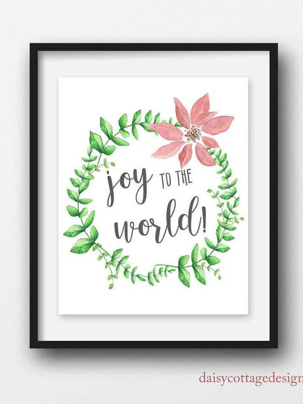 Joy to the World Printable