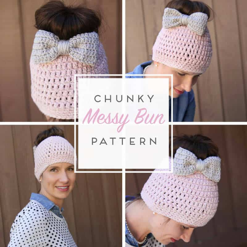 Messy Bun Free Crochet Pattern - Daisy Cottage Designs