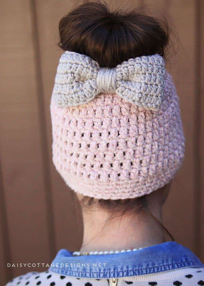 Messy bun hat crochet beanie pattern daisy cottage designs submit a comment cancel reply bankloansurffo Images