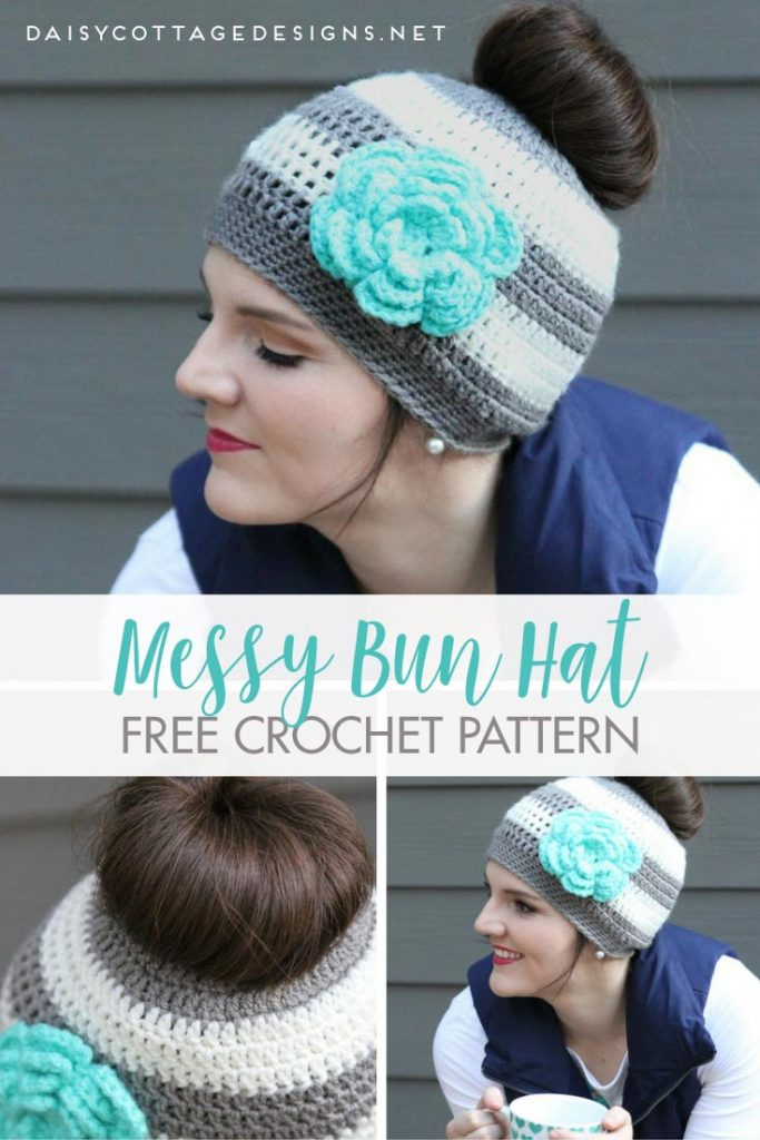 Ponytail Hat Crochet PatternMessy Bun Hat Pattern Daisy Cottage Beauteous Hair Crochet Patterns