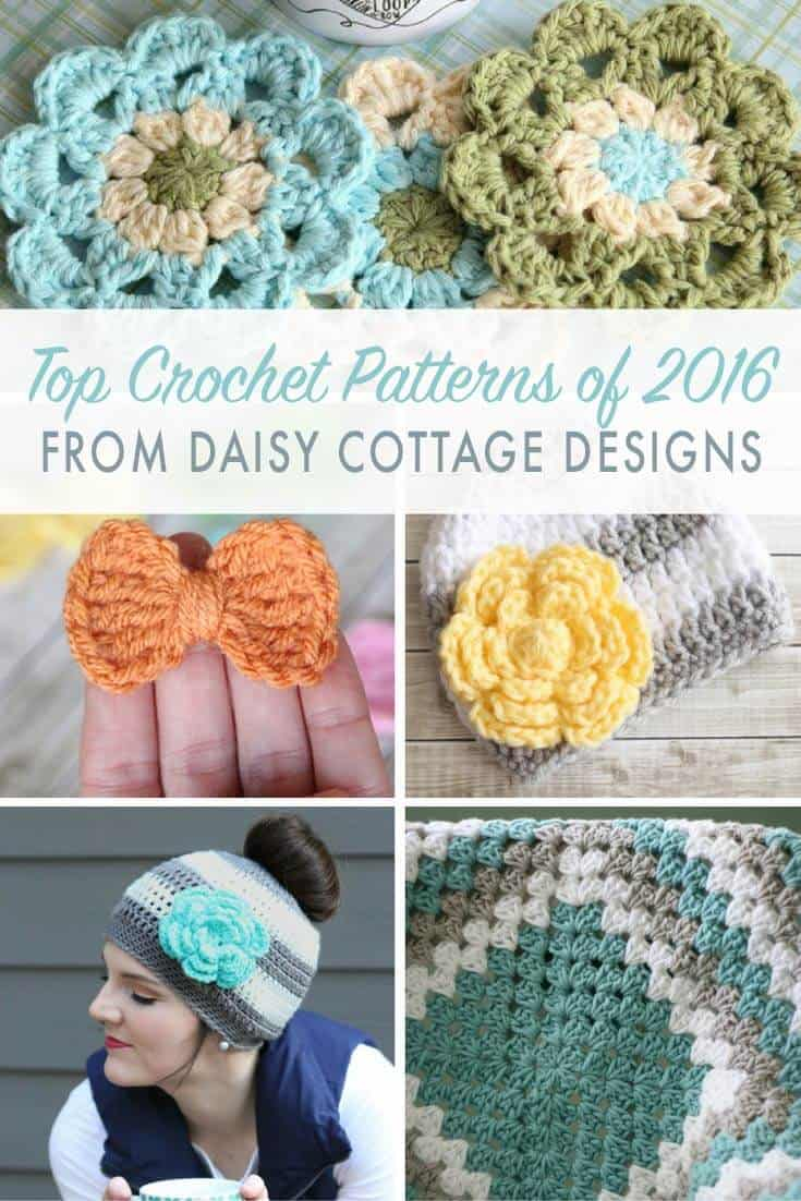 Best Free Crochet Patterns of 2016 - Daisy Cottage Designs