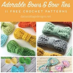 Crochet Bow & Bow Tie Pattern Collection