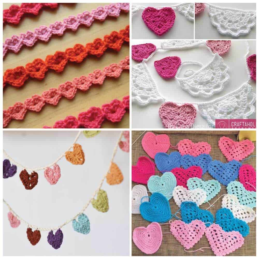 Crochet heart pattern collection daisy cottage designs heart bunting with tassels the tassels really kick this crochet bunting up a notch the rainbow color scheme is gorgeous too bankloansurffo Images
