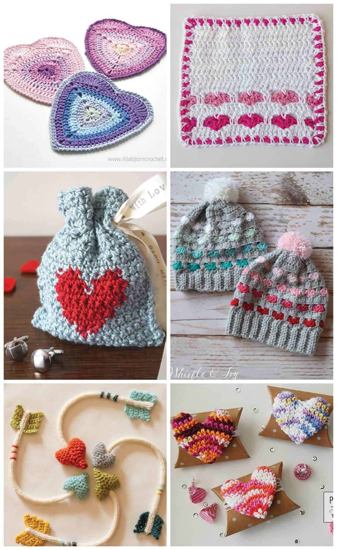 Crochet Heart Patterns For Valentine S Day Daisy Cottage Designs