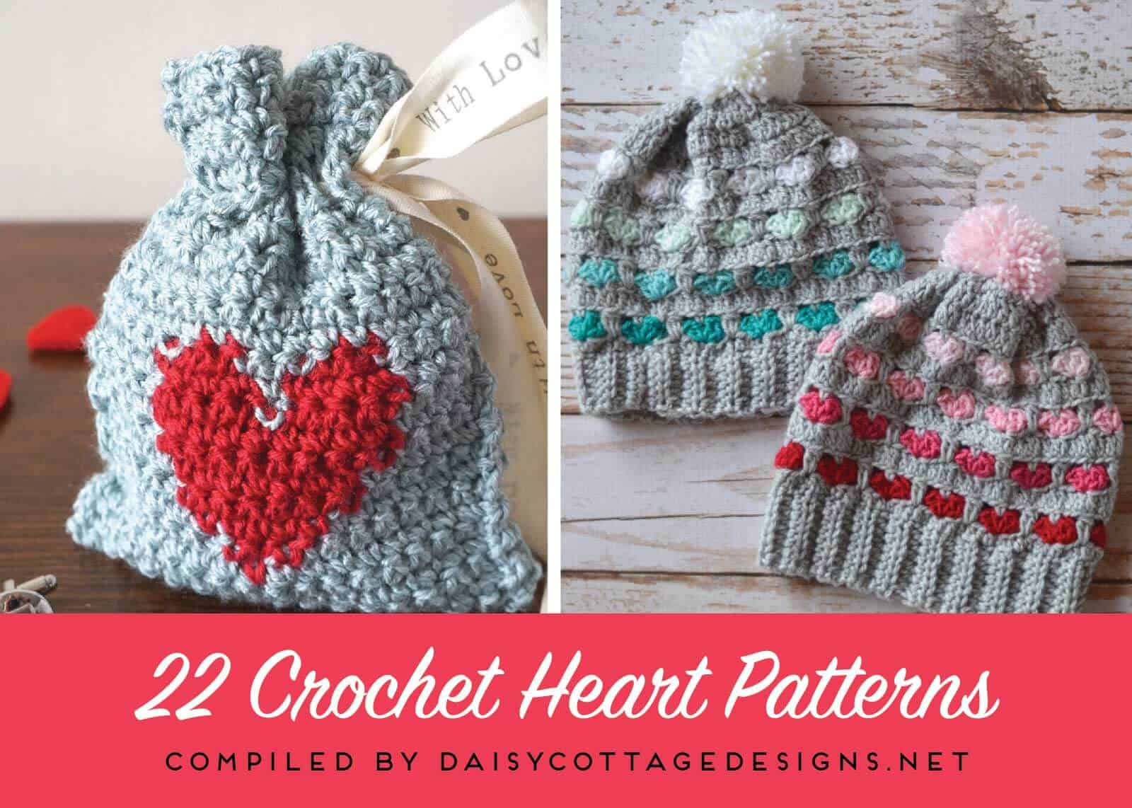 Use this collection of crochet heart patterns to make something for everyone on your list. From scarves to coffee cozies - all with hearts!