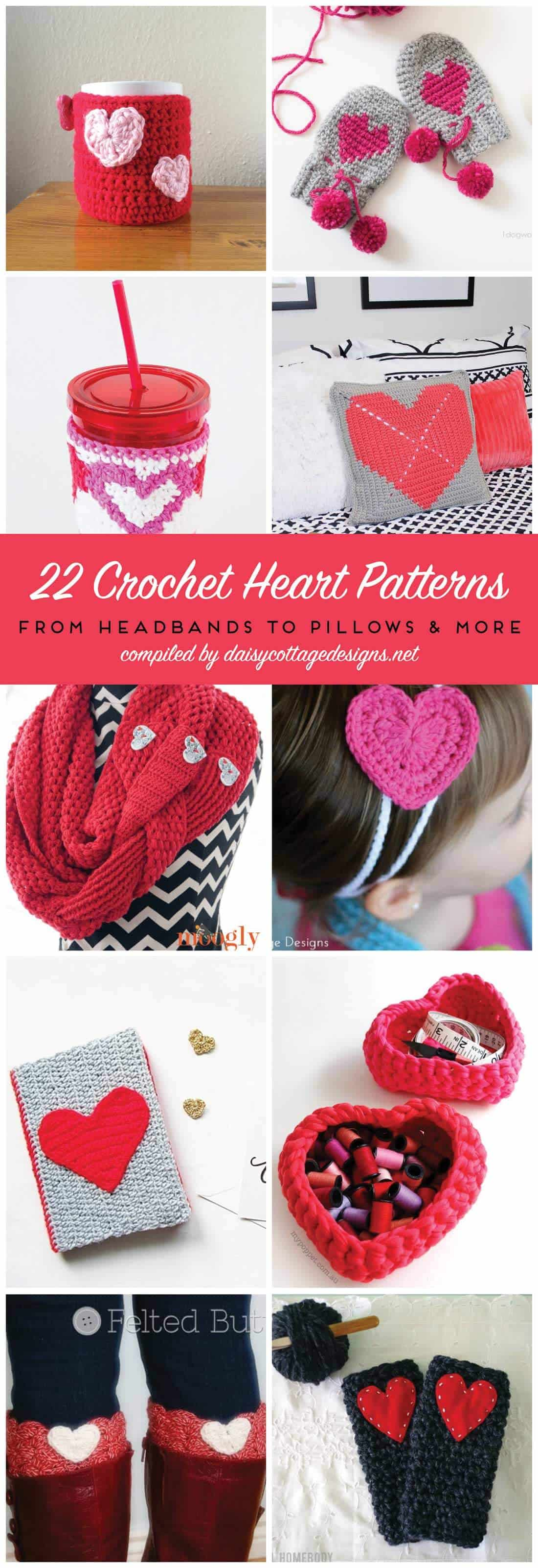 Crochet Heart Patterns For Valentines Day Daisy Cottage Designs