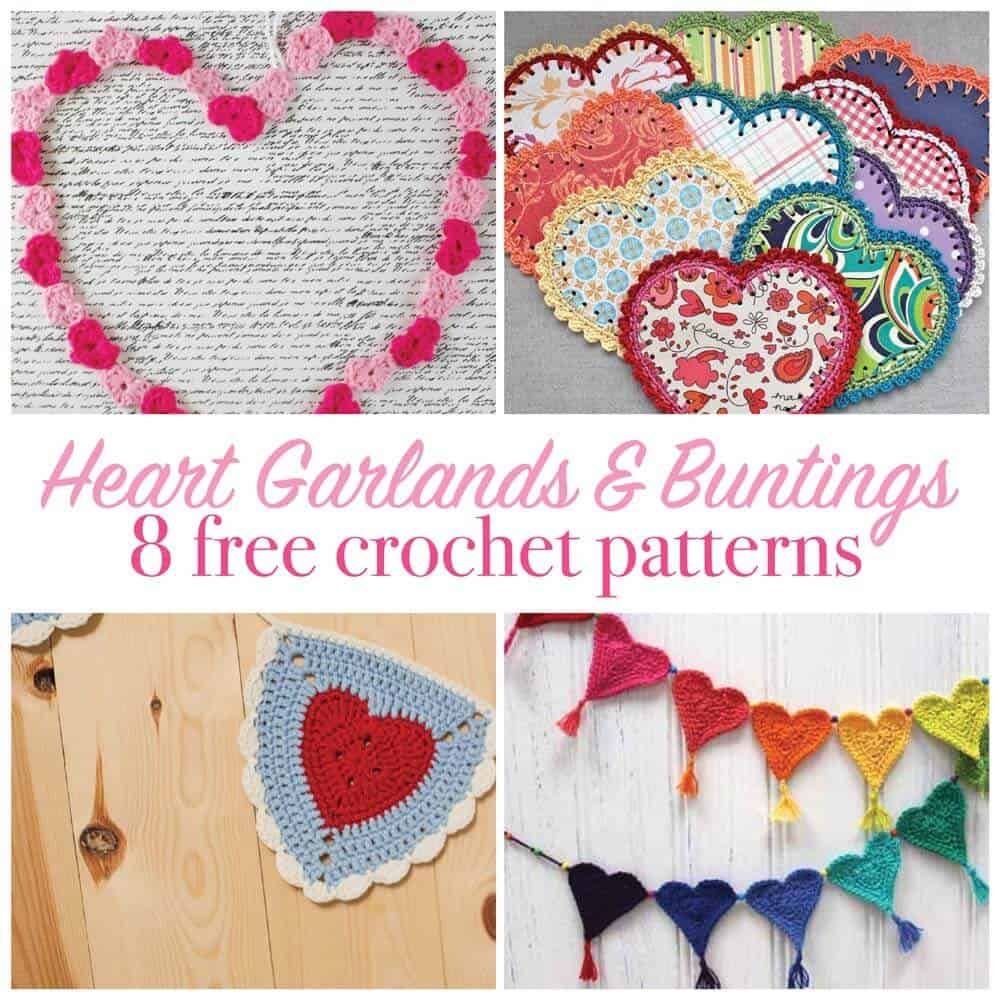 Crochet Heart Pattern Collection Daisy Cottage Designs