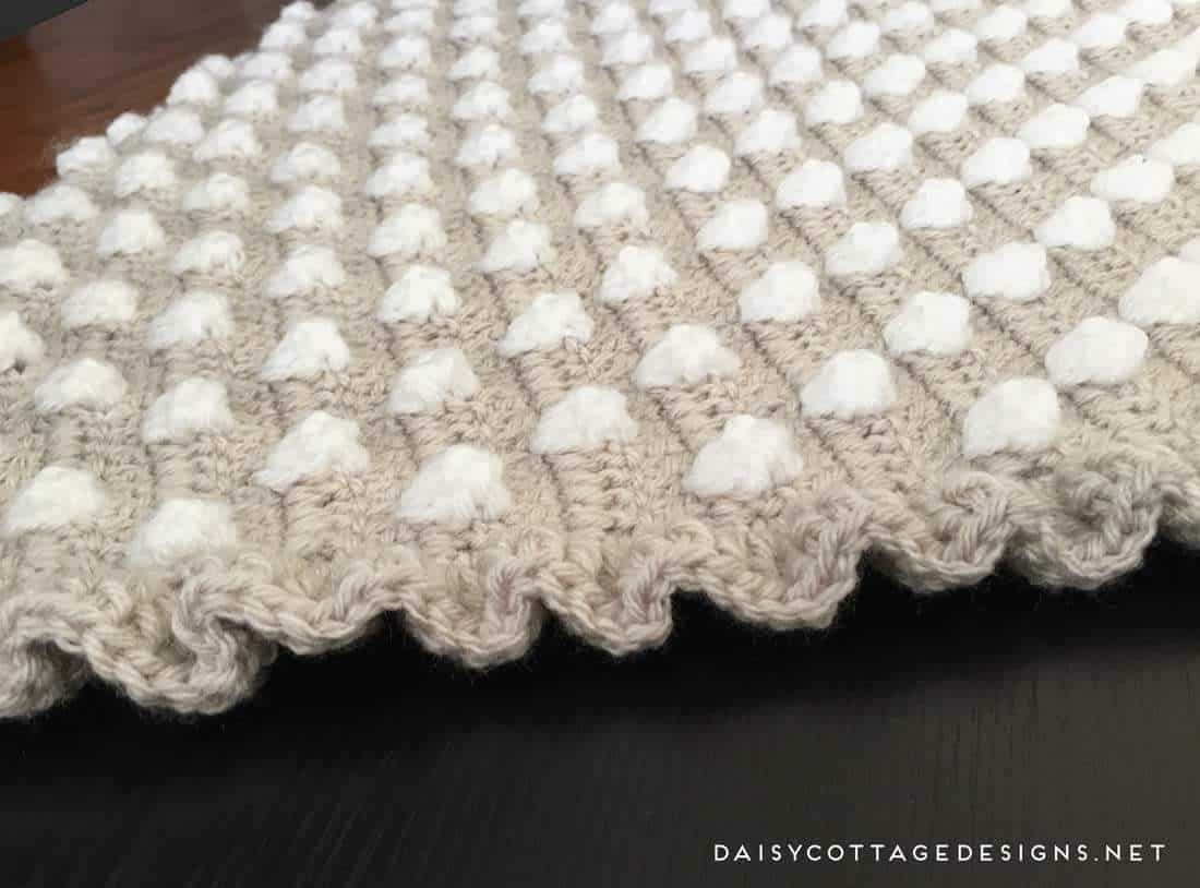 Free Crochet Pattern Ruffle Edging : Crochet Baby Blanket Pattern from Daisy Cottage Designs