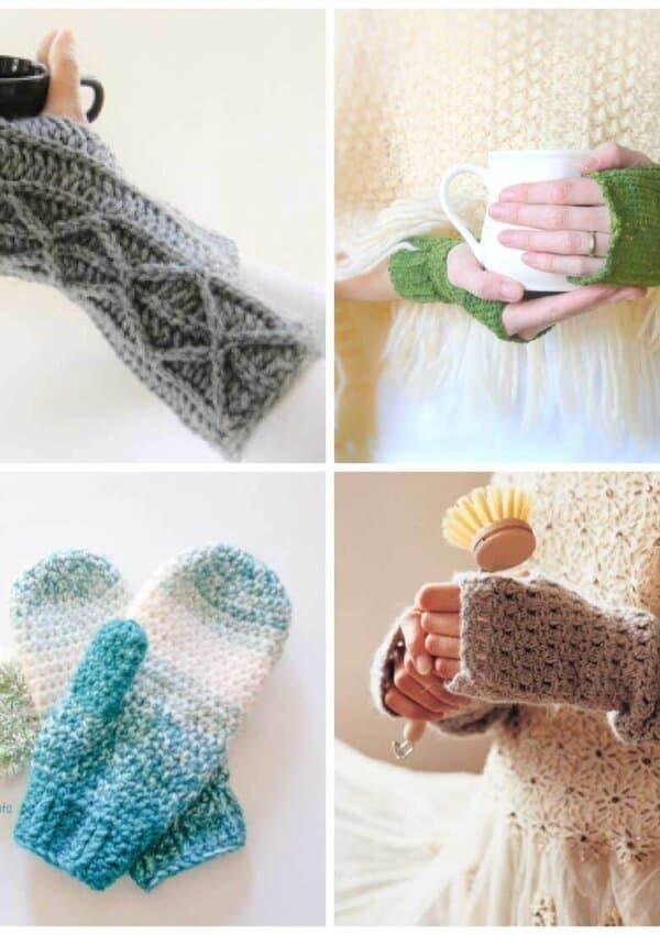 Crochet Fingerless Gloves & Mittens