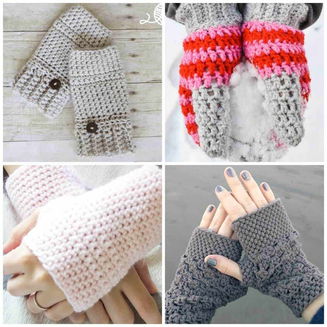 fingerless gloves crochet pattern | crochet mittens | crochet gloves | free crochet patterns | Use these crochet patterns to make a set of fingerless gloves or mittens. These free crochet patterns will have your fingers nice and toasty in no time!
