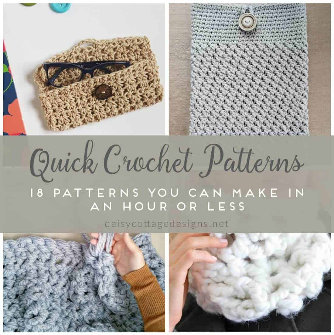 easy crochet patterns quick crochet patterns fast crochet projects ...