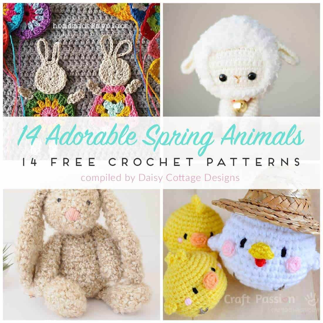 Free Crochet Patterns for Spring - Daisy Cottage Designs
