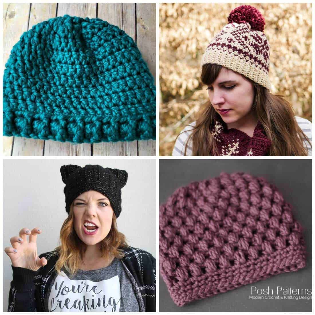 6be7a104f99 Free Crochet Hat Patterns - Daisy Cottage Designs