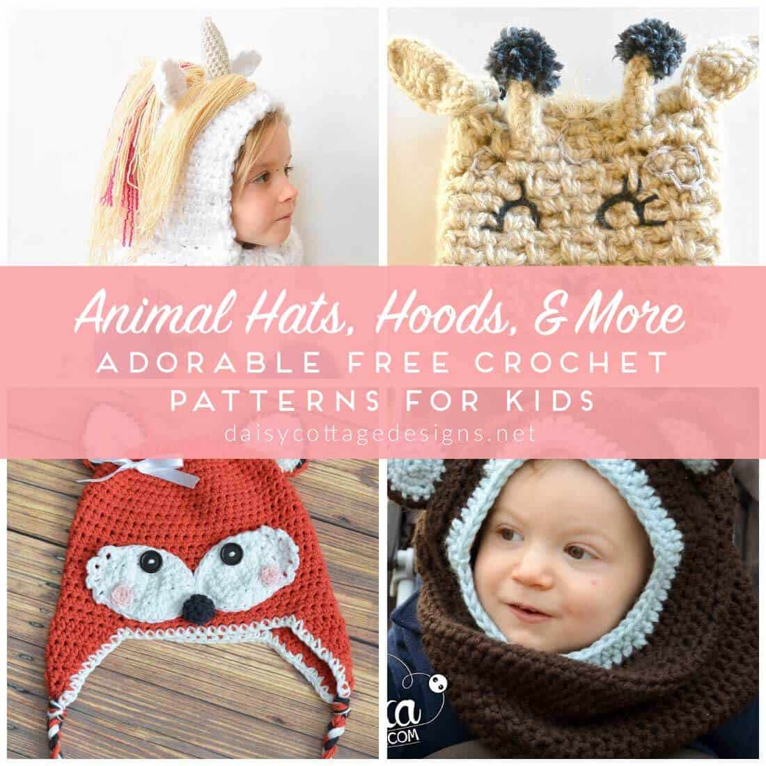 Crochet Hat Patterns for Kids - Daisy Cottage Designs