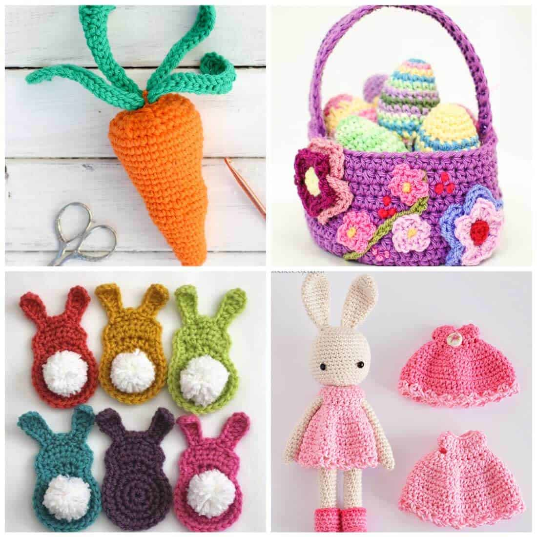 Free Crochet Patterns | Crochet Patterns for Easter | Crochet Patterns for Spring | Flower Crochet Patterns | Fun Crochet Patterns | Use these adorable free crochet patterns to make something that will get you in the mood for Spring. These fun patterns are perfect for Easter baskets and more!