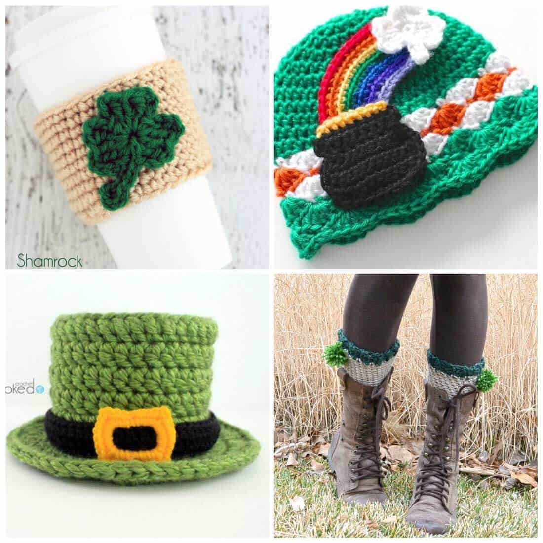 free crochet patterns | St. Patrick's Day | easy crochet patterns | crochet patterns | Use these free crochet patterns to whip something up in time for St. Patrick's Day. Bright and fun, these are a fun way to go green and get in touch with your Irish side.