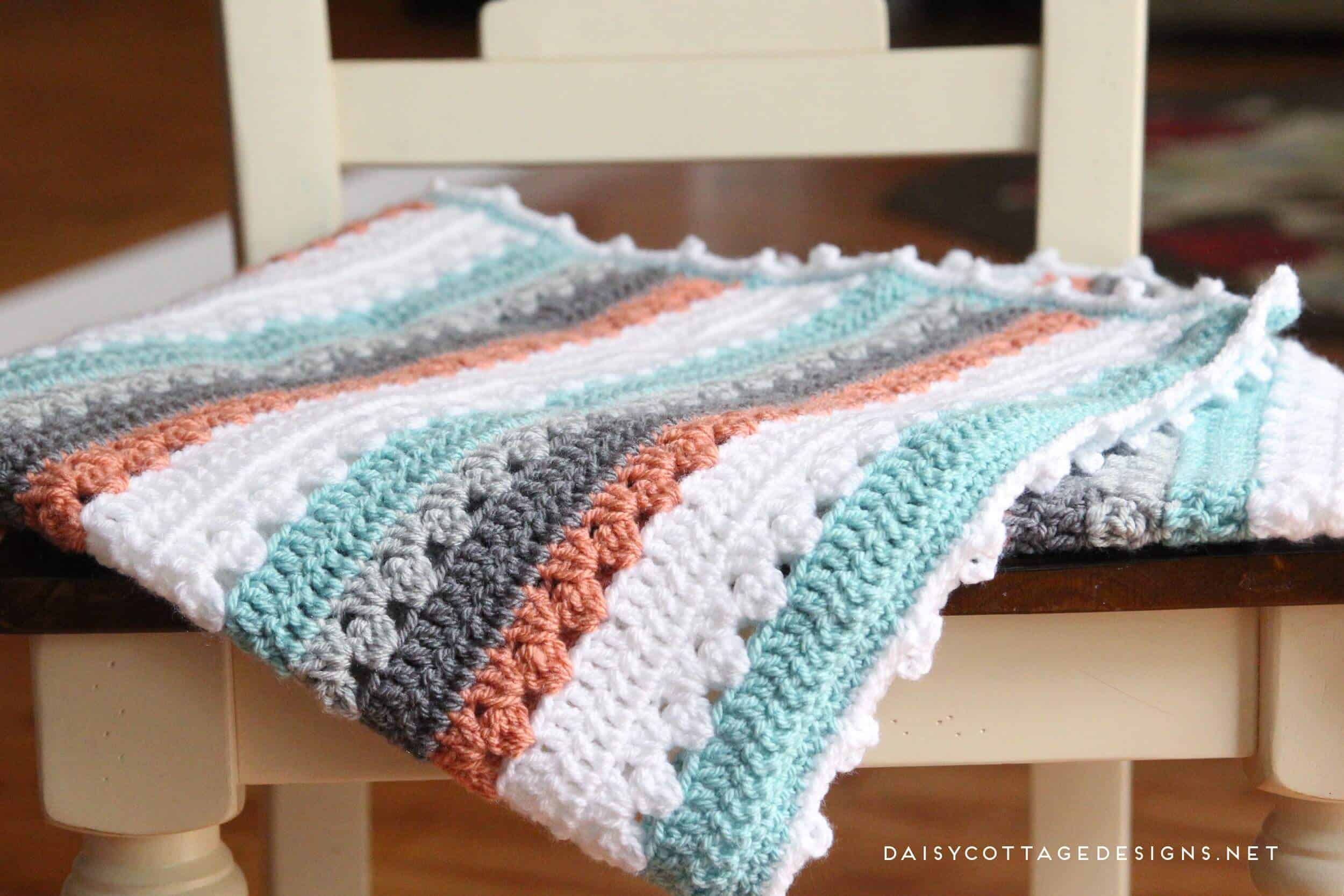Crochet Blanket Pattern A Quick Amp Simple Pattern Daisy