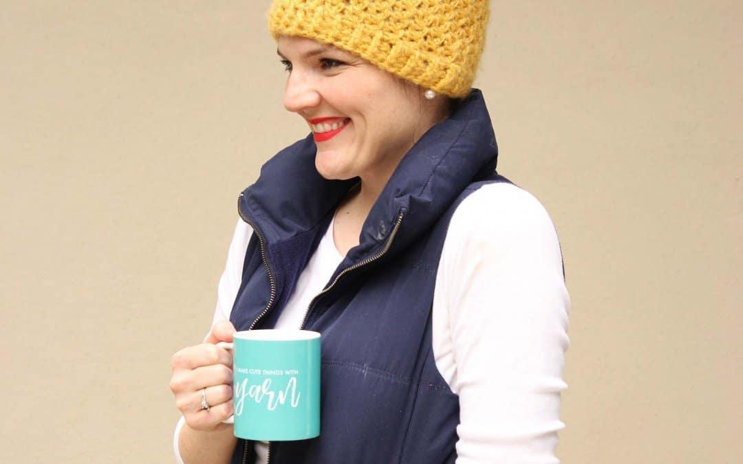 Trendy Messy Bun Hat Crochet Pattern