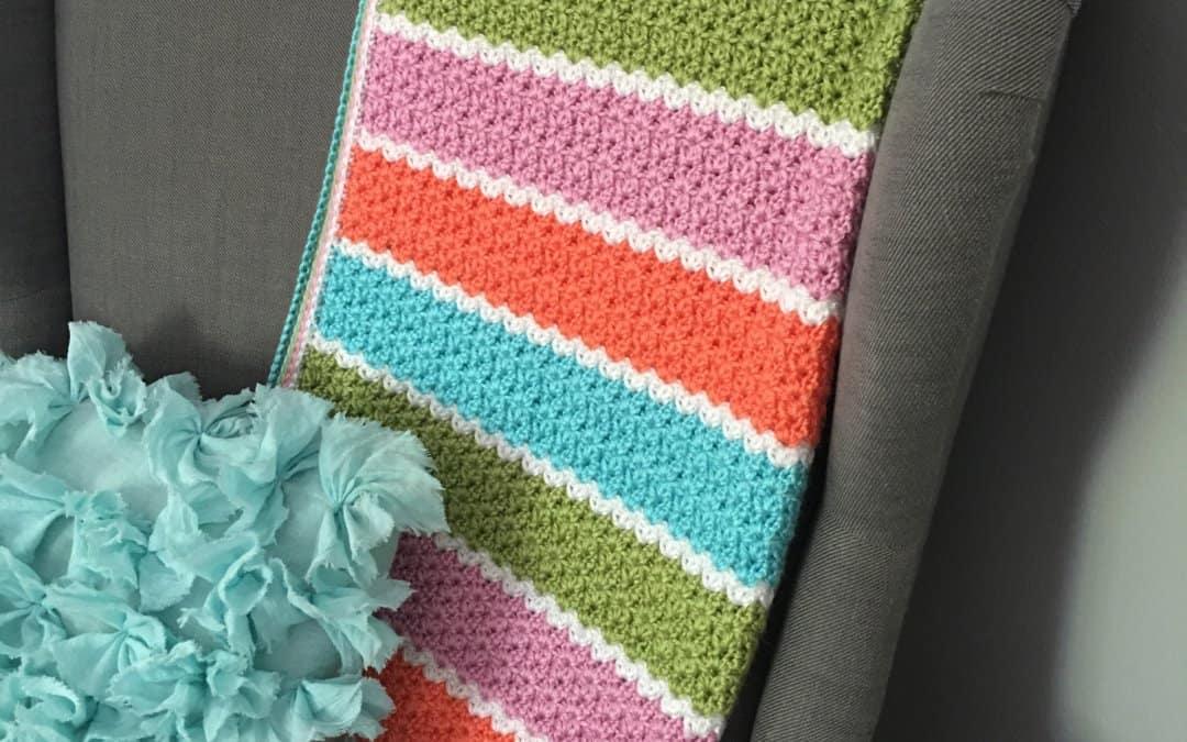 V-Stitch Blanket Crochet Pattern