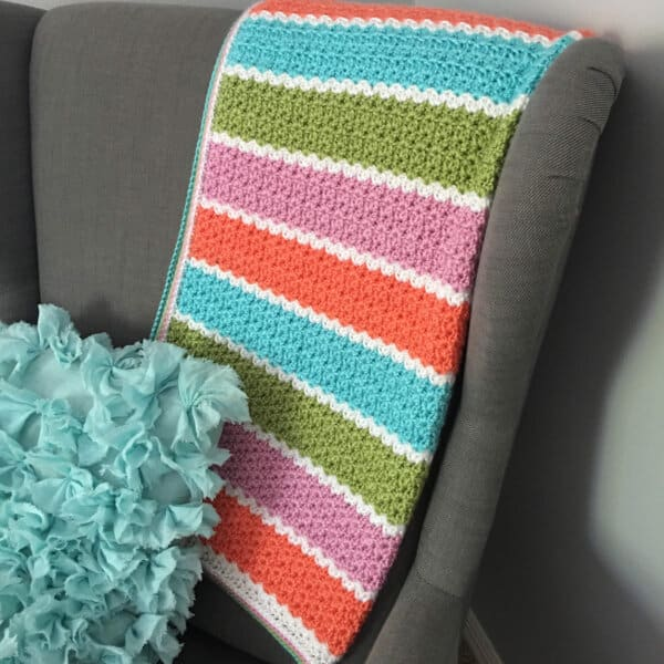 V-Stitch Blanket Crochet Pattern