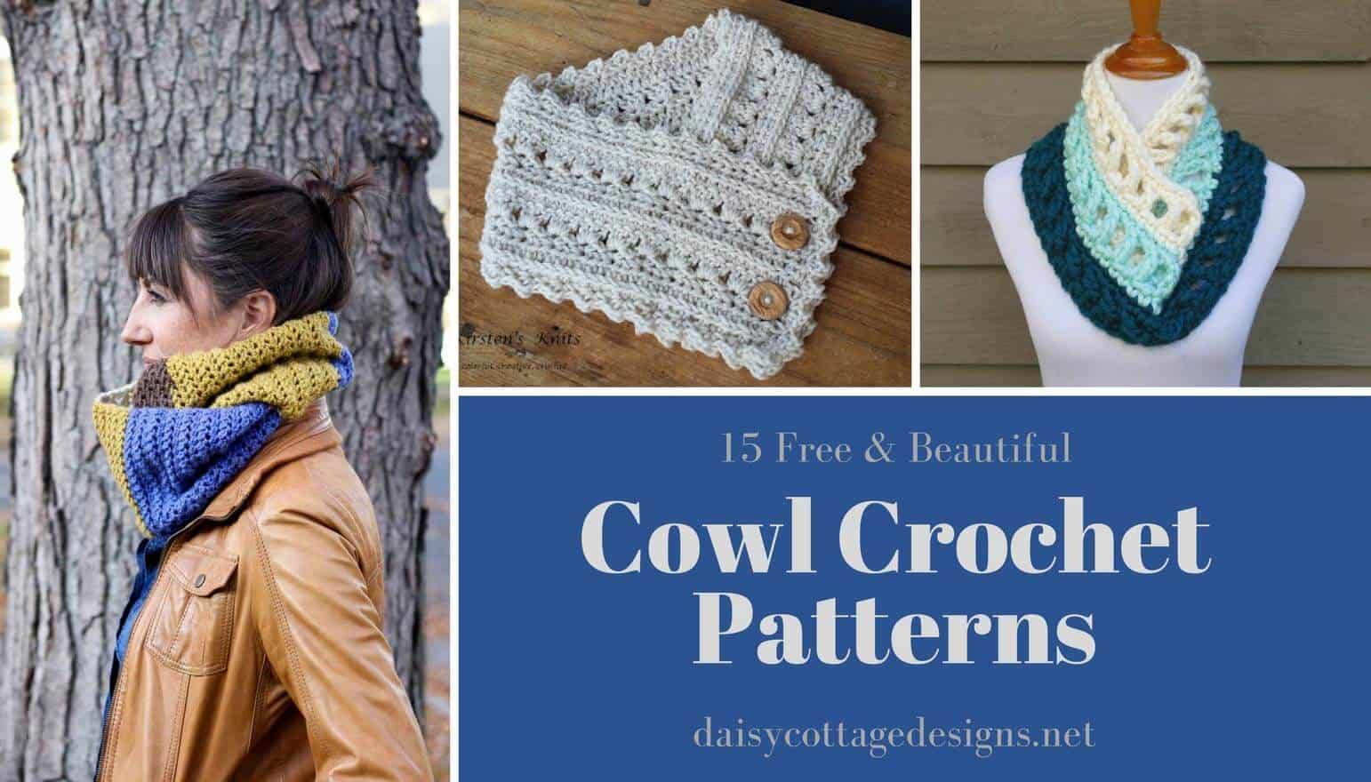 15 free cowl crochet patterns. These make wonderful gifts and fashion statements.