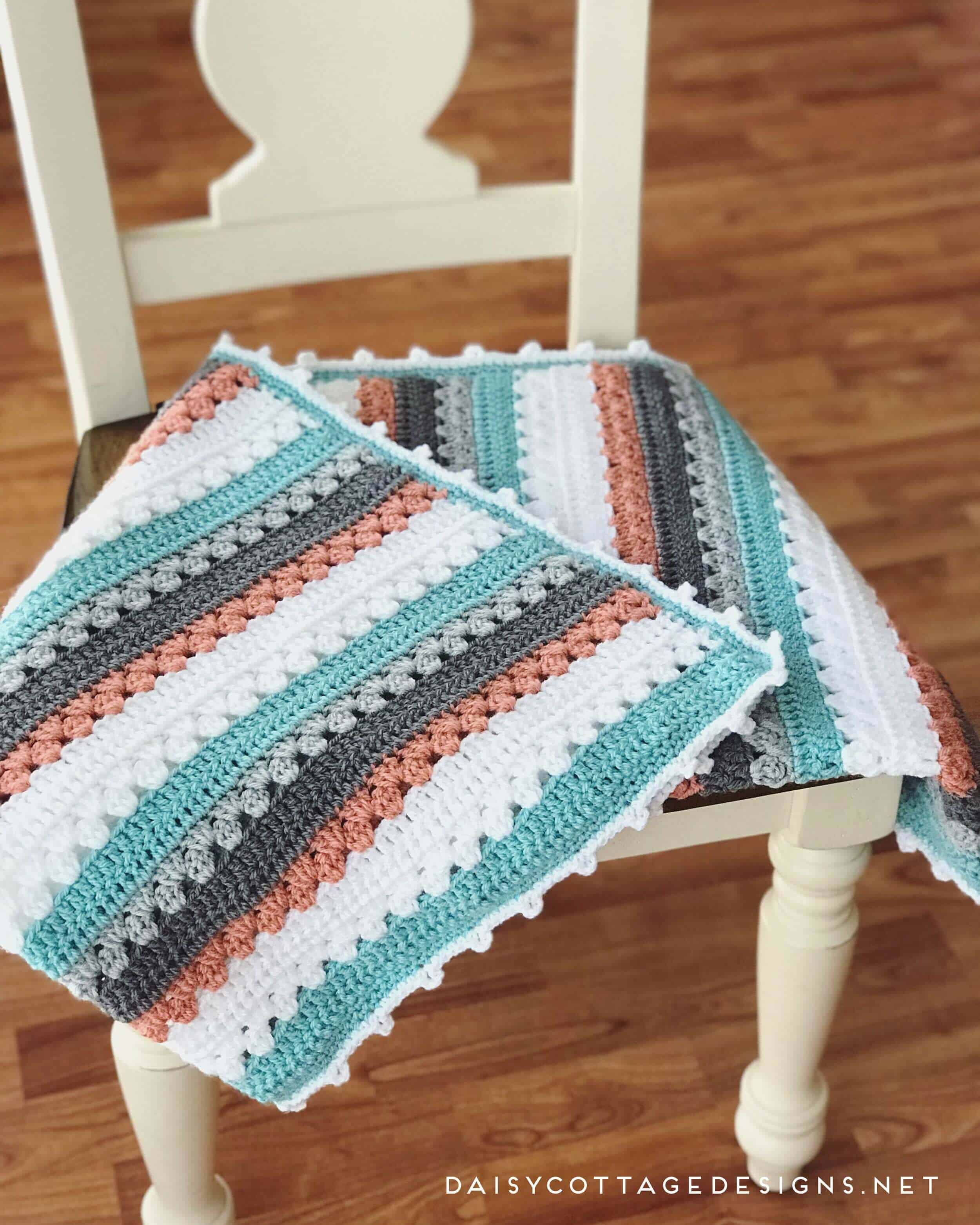 Crochet Blanket Pattern A Quick Simple Pattern Daisy Cottage