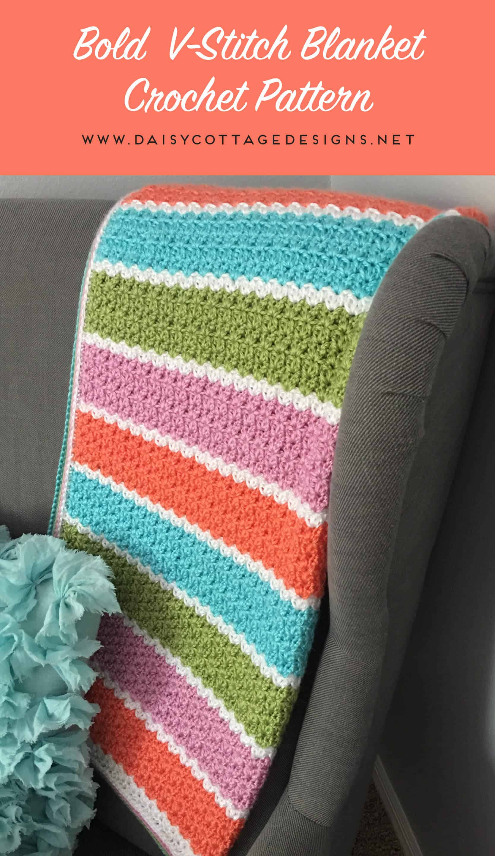 V stitch blanket crochet pattern daisy cottage designs if youre looking for a free crochet blanket pattern that works up quickly bankloansurffo Images
