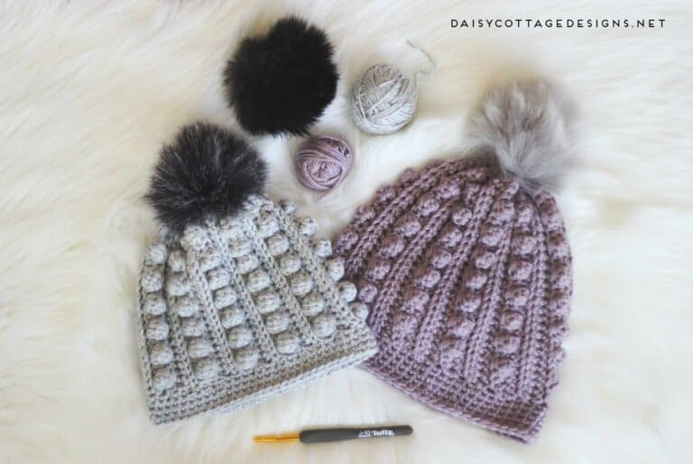 Bobble Beanie Crochet Pattern Daisy Cottage Designs