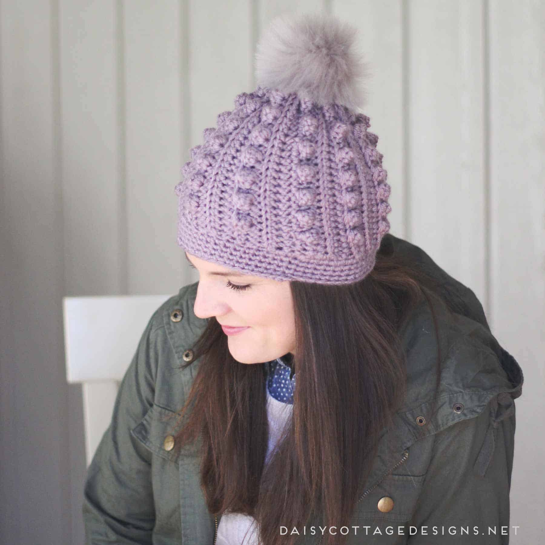 5374d28522c Use this free bobble beanie crochet pattern to create an adorable crochet  hat for anyone on