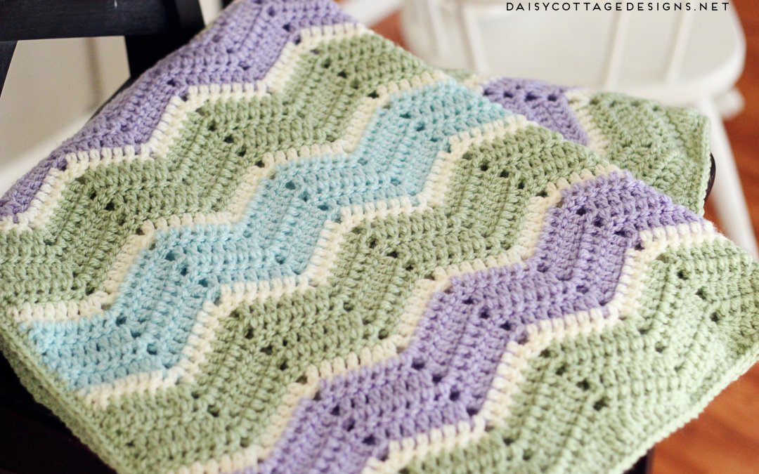 Easy Chevron Blanket Crochet Pattern