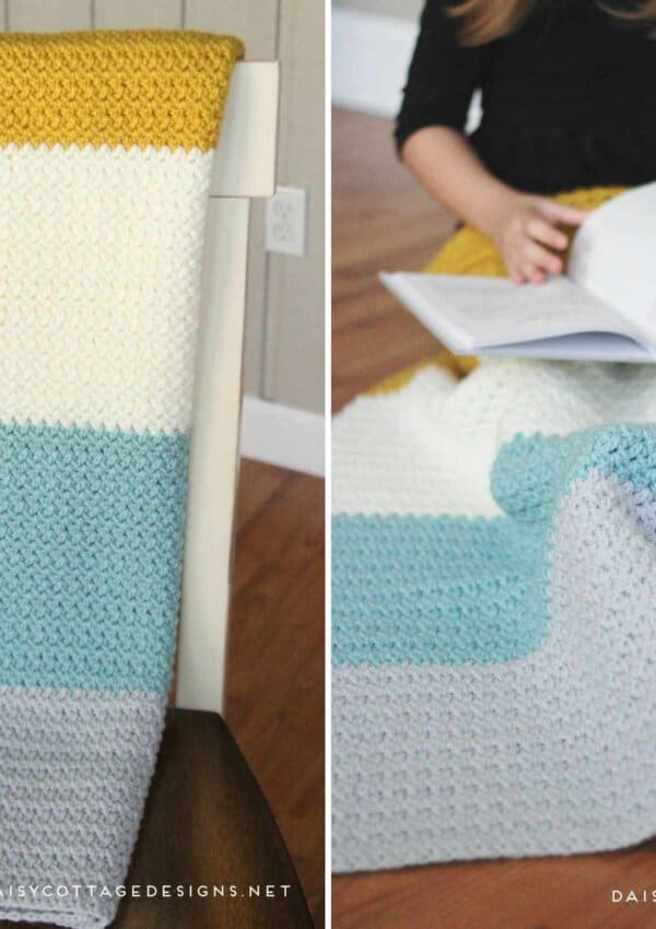 Color Block Blanket Crochet Pattern