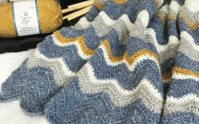 3d629a7a3443 Pretty Chevron Blanket Crochet Pattern