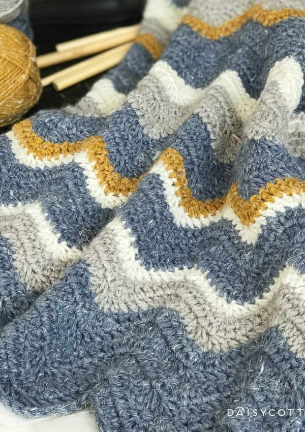 Pretty Chevron Blanket Crochet Pattern