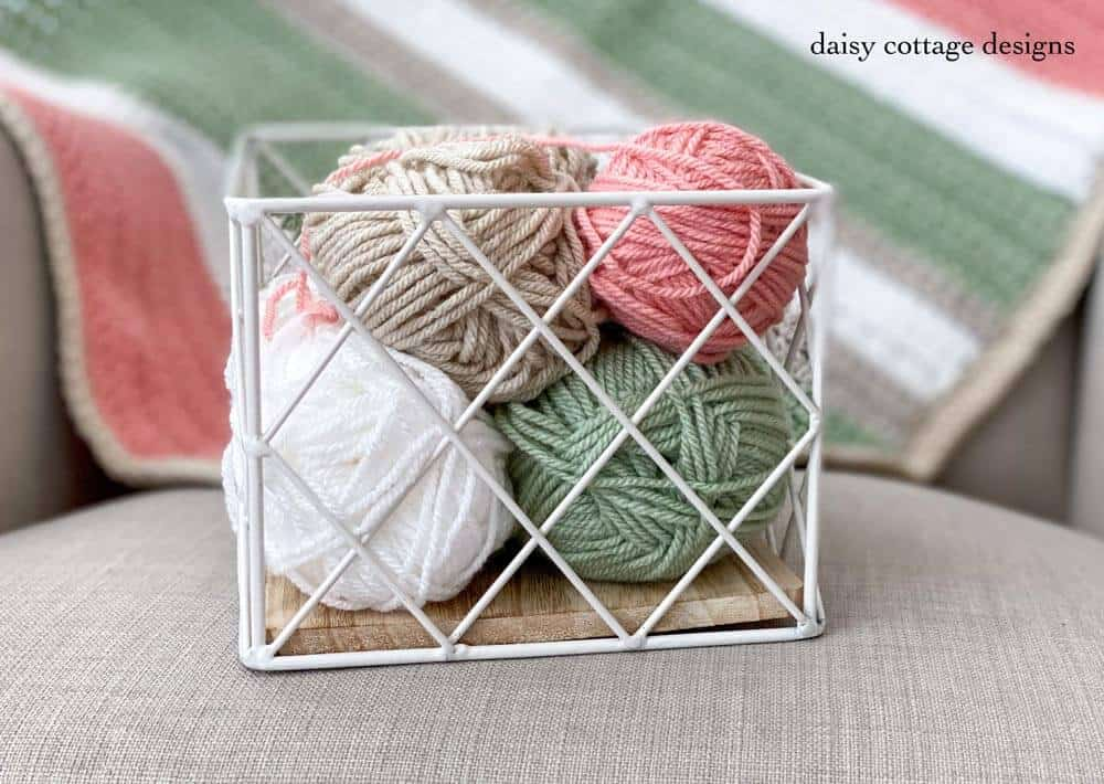 Beautiful Paintbox yarn is used in this crochet blanket tutorial!