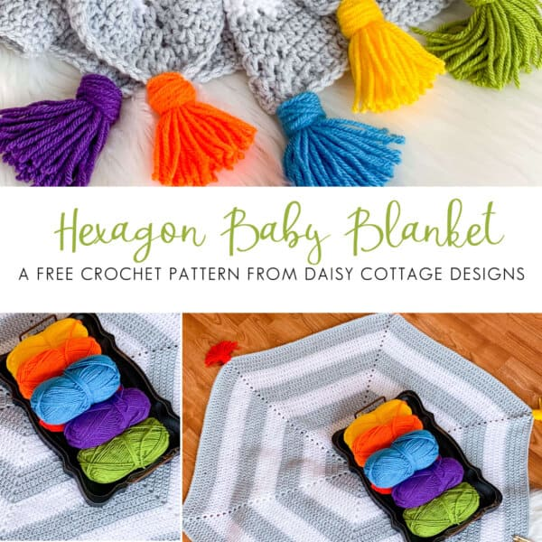 Hexagon Baby Blanket Crochet Pattern